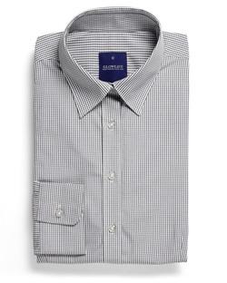 Ladies 1637WHL LS Gingham Check Hospitality Shirt Grey