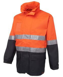 6DNLL Hi Vis Long Line Jacket Orange-Navy