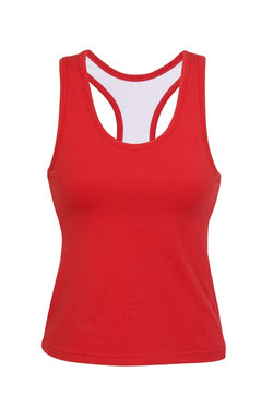 T666LD Ladies Self Brassiere Singlet Red.jpg