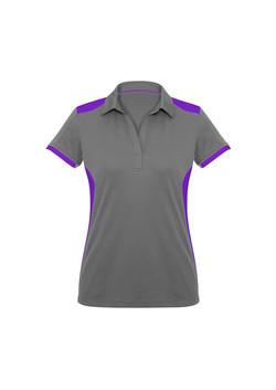 Biz P705LS Ladies Rival Polo Shirt Silver_Purple