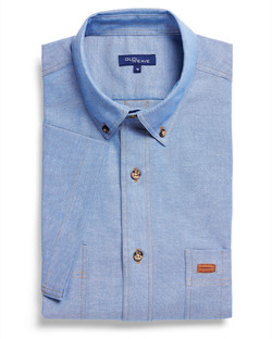 Mens 5045SN SS Iconic Chambray Industrial Shirt Blue