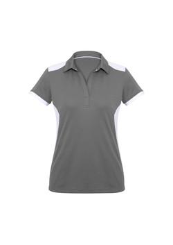 Biz P705LS Ladies Rival Polo Shirt Silver_White