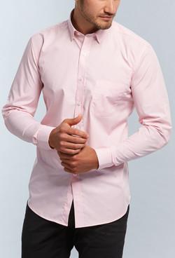 Mens 1637HL LS Gingham Check Hospitality Shirt Pink A