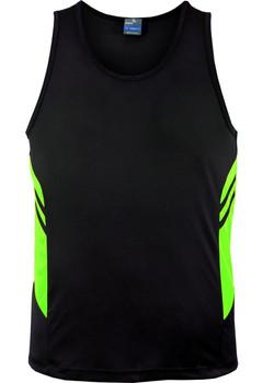 AP 1111 Mens Tasman Singlet Black-Fluro Green.jpg