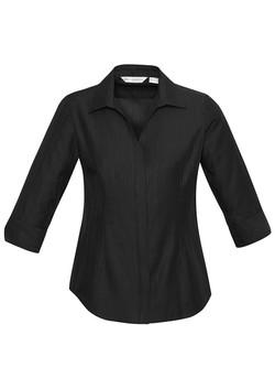 S312LT Ladies 3-4 Sleeve Black