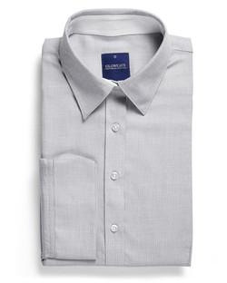 Ladies 1709WL Micro Step Textured Plain Shirt Grey