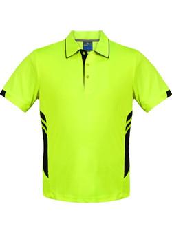 AP 1311 Mens Tasman Polo Neon Yellow-Black