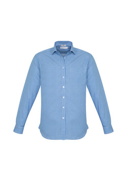 Biz S716ML Mens Ellison Shirts French Blue