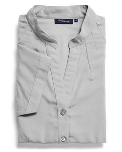 Ladies 1583WS 100% Plain Polyester Shirt Silver
