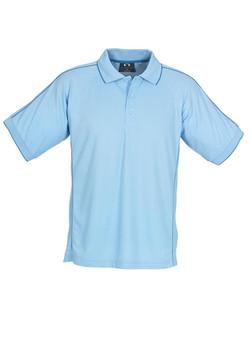 p9900 Mens Resort Polo Spring Blue-Mid Blue