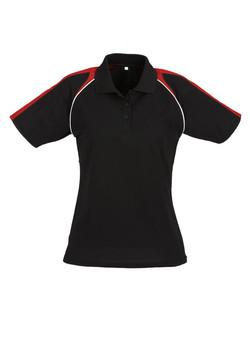 p225ls Ladies Triton Polo Black-Red-White