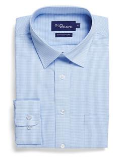 Mens 1295L LS Textured Yarn Shirt Blue