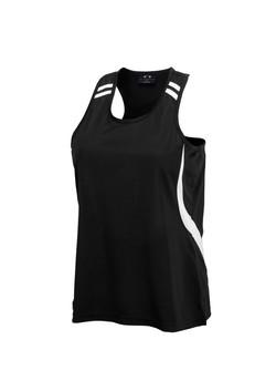 Biz LV3125 Ladies Flash Singlet Black-White