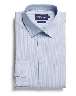 Mens 1251L LS Square Dobby Shirt Blue