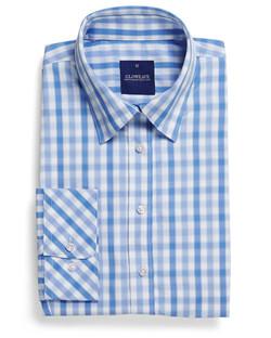 Ladies 1711WL Soft Tonal Check Shirt Blue