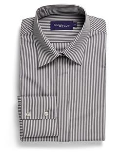 Ladies 1376WL Bold Stripe Shirt Charcoal