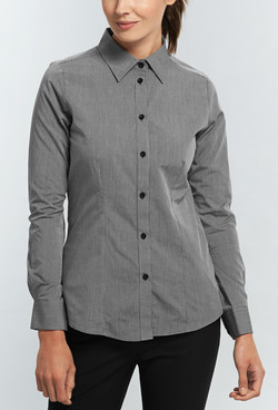 Ladies 5656WL UV Cotton Shirt Black A