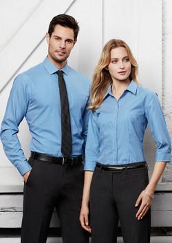 Biz S716ML_S716LT Mens and Ladies Ellison Shirts