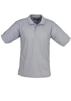 p9900 Mens Resort Polo Grey-Charcoal
