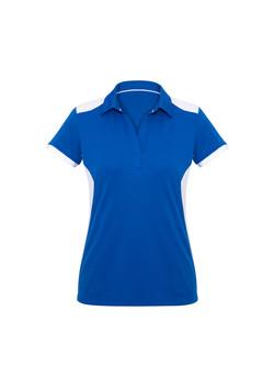 Biz P705LS Ladies Rival Polo Shirt Royal_White