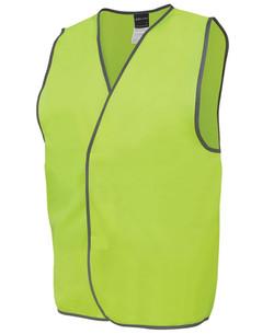 6HVSV Hi Vis Safety Vest Lime
