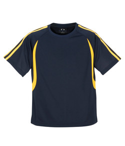 T3110 T3110B Mens and Kids Flash Tee Navy_Gold