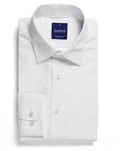 Mens 1069L LS Yarn Dyed Herringbone Shirt White