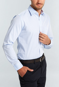 Mens 1069L LS Yarn Dyed Herringbone Shirt Sky A