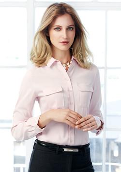 S626LL Ladies Madison Long Sleeve Blouse