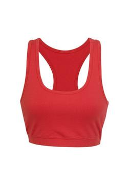 T667LD Ladies Self Brassiere Crop Top Red.jpg