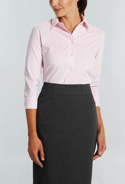 Ladies 1251WL LS Square Dobby Shirt Pink A