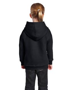 18500B Youth Hooded Sweatshirt Back