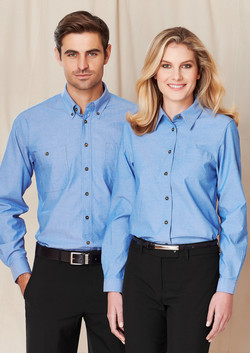 SH112 LB6201 Chambray Long Sleeve Shirt Range