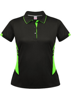 AP 2311 Tasman Polo Black-Neon green