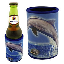 Promotional Drink Coolers can be decorated with either screen printing or sublimation.
