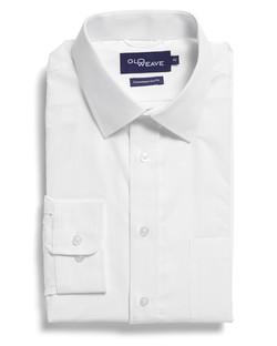 Mens 1251L LS Square Dobby Shirt White