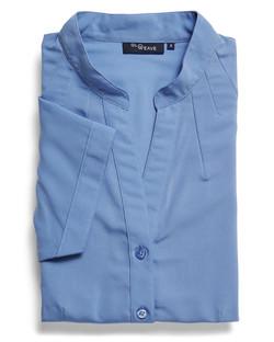 Ladies 1583WS 100% Plain Polyester Shirt Blue