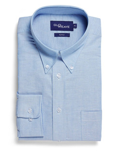 Mens 1015L LS Oxford Weave Blue Shirt