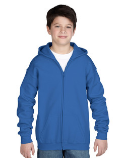 18600B Youth Full Zip Hooded Sweatshirt Front