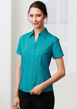 S29422 Ladies Printed Oasis Shirt Sleeve