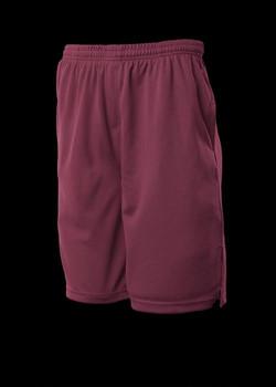 3601 Kids Sports Shorts Maroon