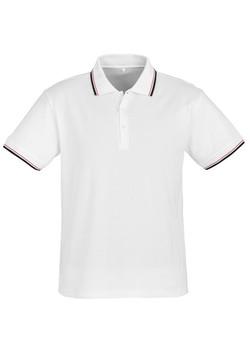 p227ms Mens Cambridge Polo White-Black-Red