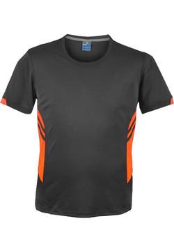 AP 1211 Mens Tasman Tshirt Slate-Fluro Orange