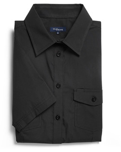 Ladies 5330WS SS Casual Ribe Shirt Black