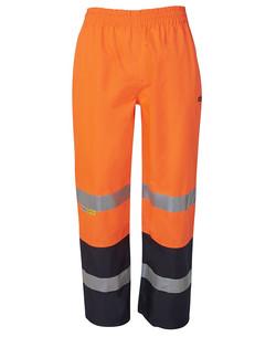6DPRP Hi Vis (D+N) Premium Rain Pant Orange-Navy