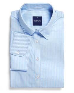 Ladies 1376WS SS Bold Stripe Shirt Blue