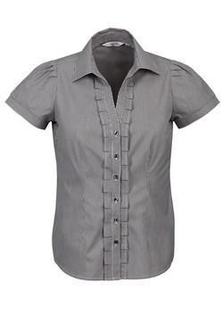 S267LS Ladies Short Sleeve Black