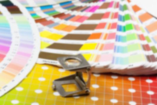 PANTONE PMS colour swatches
