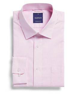 Mens 1251L LS Square Dobby Shirt Pink