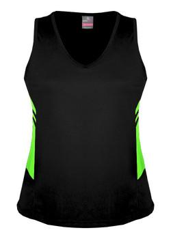 AP 2111 Ladies Tasman Singlet Black-Fluro Green.jpg